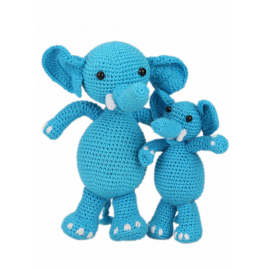 Crochet Kit Elephants Sara and Simba