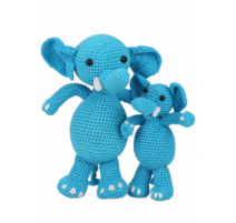 Amigurumi Kit Elephants Sara and Simba