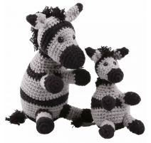 Amigurumi Kit Zebras Paula and Peter