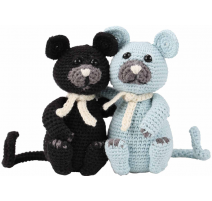 Amigurumi Kit Cats Burt and Bart