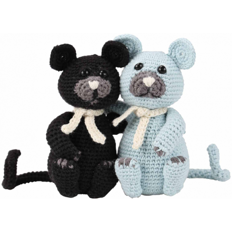 Kit Amigurumi Gatos Burt y Bart
