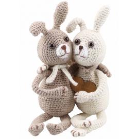 Kit Amigurumi Conejos Lilly y Tim