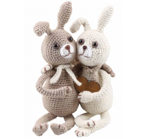 Amigurumi Kit Rabbits Lilly and Tim