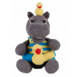 Amigurumi Kit Hippo Helmut