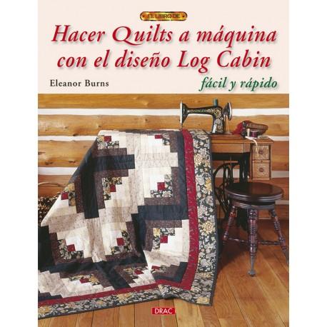 Hacer quilts a máquina con el diseño Log Cabin fácil y rápido