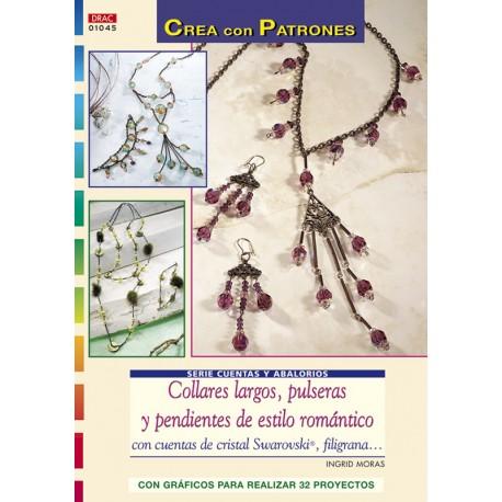 Collares largos, pulseras y pendientes de estilo romántico con cuentas de cristal Swarovski, filigrana...