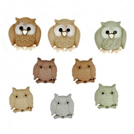 Whoo? Owls Buttons