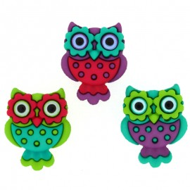 Retro Owls Buttons