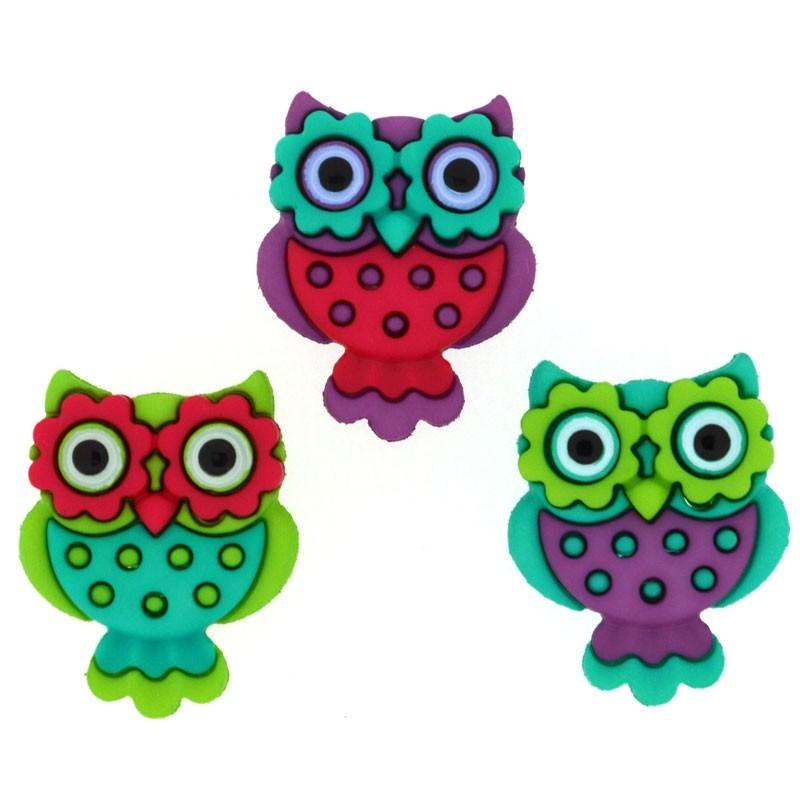 Retro Owls Buttons