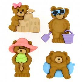 Summer Bears Buttons