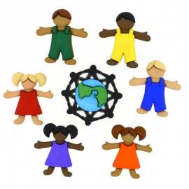 Botones Niños de Todo el Mundo