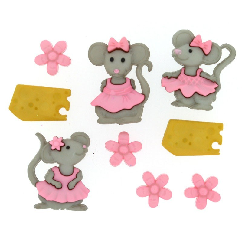 The Mice Girls Buttons