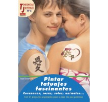Pintar tatuajes fascinantes. Corazones, rosas, soles, animales...