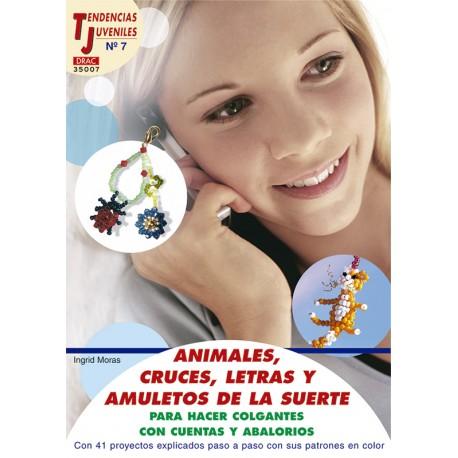 Animales, cruces, letras y amuletos de la suerte para hacer colgantes con cuentas y abalorios