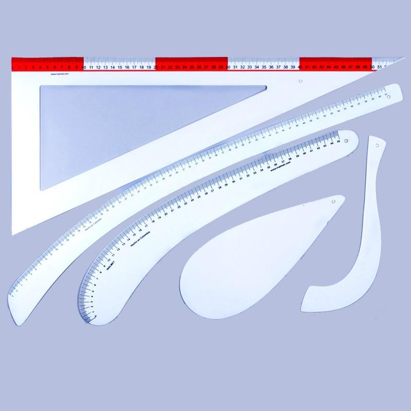 Set Dressmaker Rules Flexible Plastic