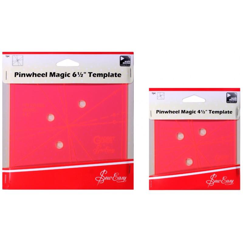 Sew Easy Pinwheel Magic Template - Las Tijeras Mágicas