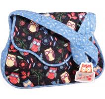 Bolsa Bandolera para Labores - Buhos Azul - Sew Easy