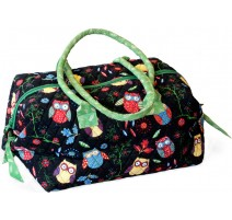 Sew Easy Knitting Bag - Green Owls