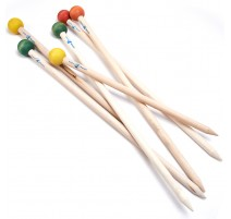 Knitting Straight Needles 50 cm Loopy Mango