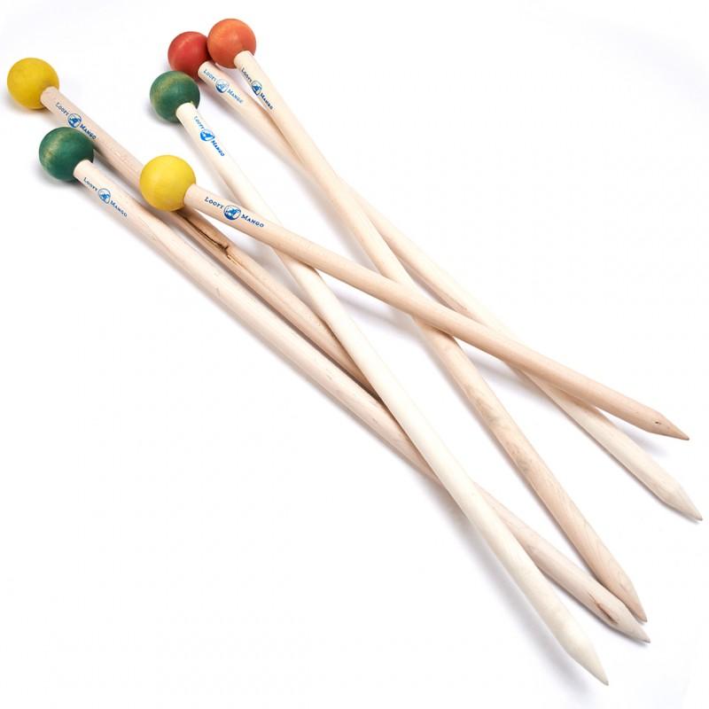 Knitting Straight Needles 50 cm Loopy Mango - Las Tijeras ...