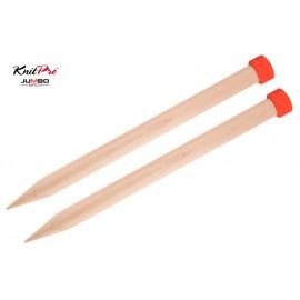 KnitPro Jumbo Birch Single Pointed Needles
