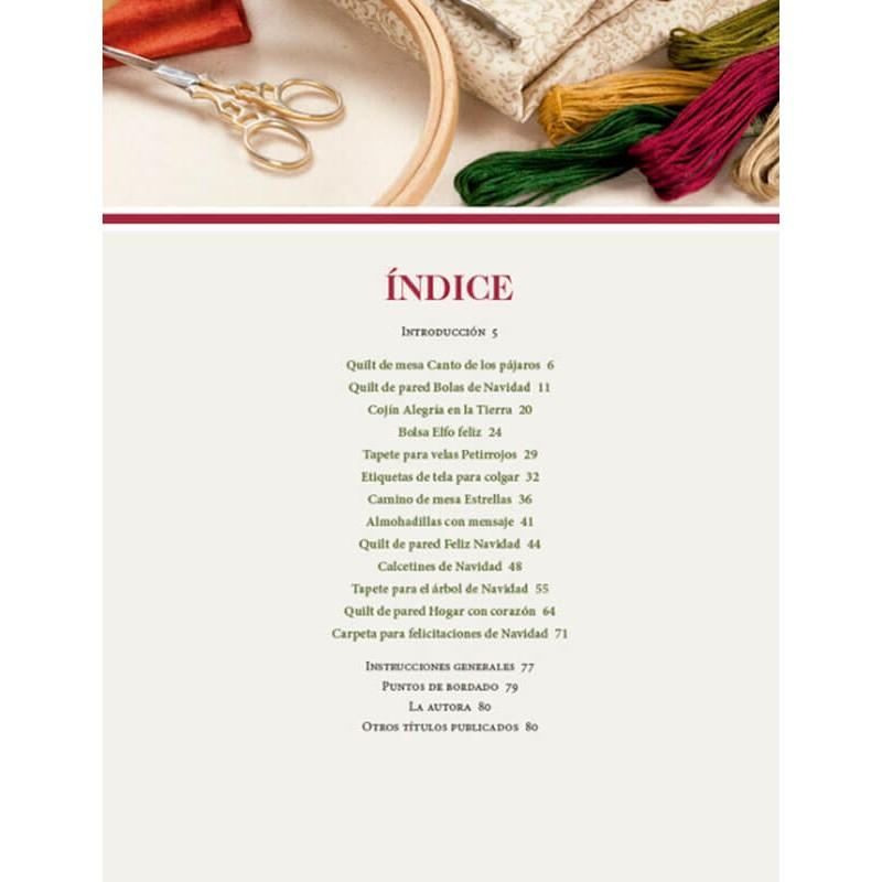 Patchwork y Bordado para Navidad - Las Tijeras Mágicas