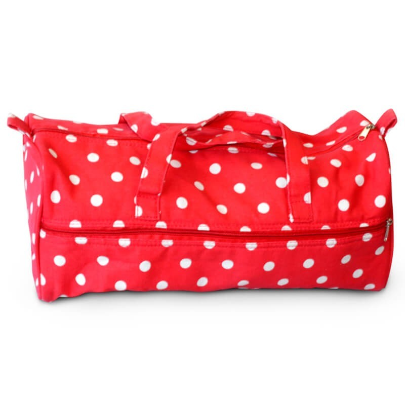 Knitting Pin Bag Storage Case for Knitting Pins Charcoal Polka Dot