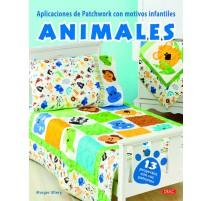 Aplicaciones de Patchwork con motivos infantiles. Animales