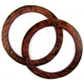 Asas Circulares de madera para Bolso Hoooked