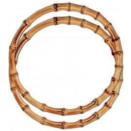 Asas de bambu redondas