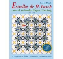 Estrellas de 9-Patch con el método Paper Piecing. Libro + DVD