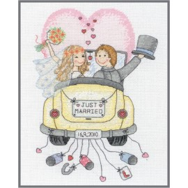 Kit de Punto de Cruz - Just Married - Anchor