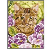 Needlepoint Tapestry Kit - Cat - Anchor