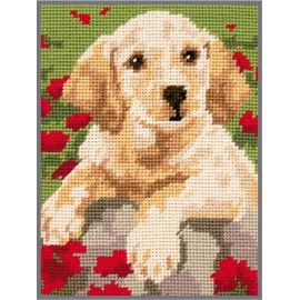 Kit de Punto de Cruz - Labrador Puppy - Anchor