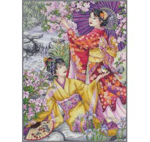 Counted Cross Stitch Kit - Geishas - Anchor Maia Collection