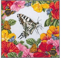 Counted Cross Stitch Kit - Spring Butterflies - Anchor Maia Collection