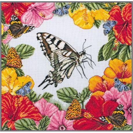 Kit Punto de Cruz - Spring Butterflies - Anchor Maia Collection