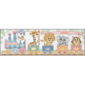 Kit de Punto de Cruz - Train Birth Sampler - Anchor