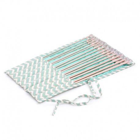 Set de Agujas de Tricot con estuche de tela - Scribble Chevron