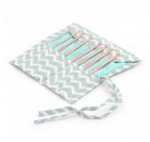 Set de Ganchillos con estuche de tela - Scribble Chevron