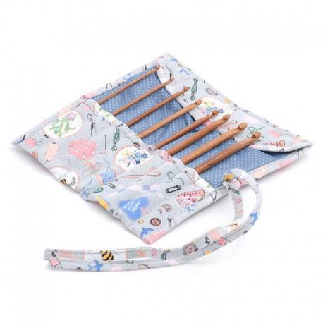 Set de Ganchillos con estuche de tela - Homemade