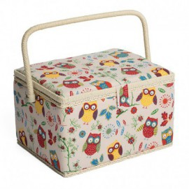 Large-Sized Sewing Box - Owls