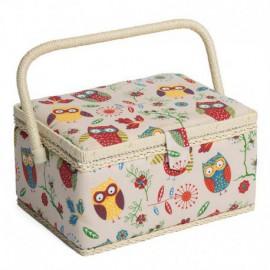Medium-Sized Sewing Box - Owls