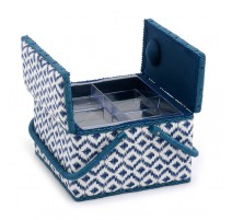 Double Lid Sewing Box - Scribble Diamond
