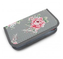 Crochet Hook Case - Dotted Roses