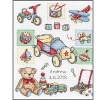 Counted Cross Stitch Kit - Boy Birth - Anchor