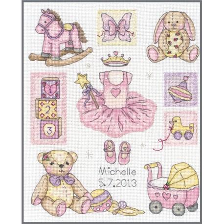 Kit de Punto de Cruz - Girl Birth - Anchor