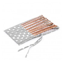 Knitting needle Set (fabric case) – Polka Dot Grey