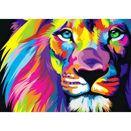 Kit Diamond Painting - Leon Arco iris - Collection d Art