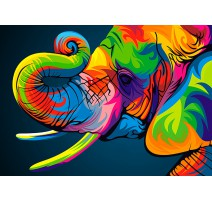 Kit Diamond Painting - Elefante Arco iris - Collection d'Art